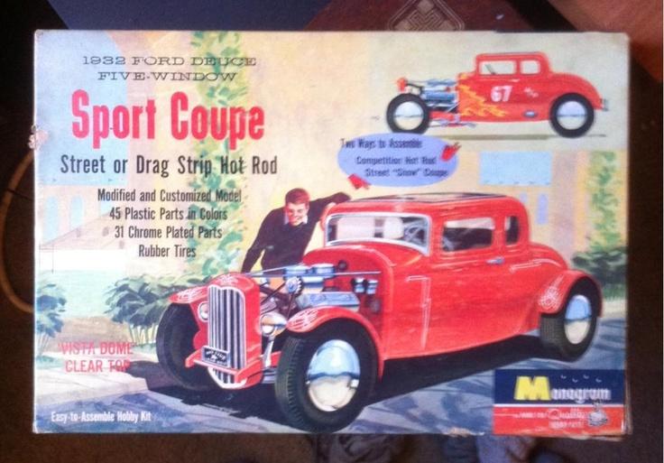 Monogram model car kit from 1958
