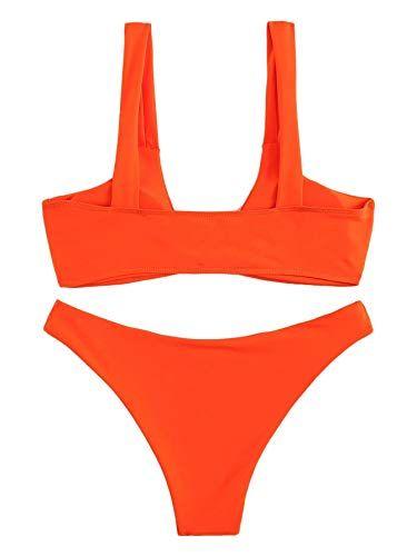 74f2f595dfa SweatyRocks Women's Sexy Bikini Swimsuit Tie Knot Front Leopard Print  Swimwear Set,#Bikini, #Swimsuit, #Tie, #SweatyRocks