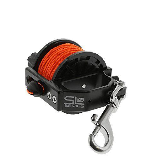 Dive Rite Slide Lock Safety Reel, 140 ft #24 Orange Line - http://scuba.megainfohouse.com/dive-rite-slide-lock-safety-reel-140-ft-24-orange-line/