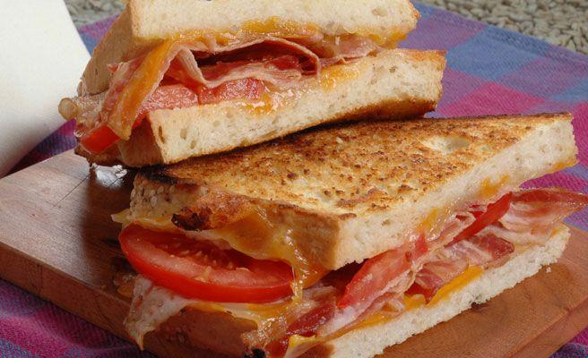 Sesame Semolina Bacon Melt Sandwich