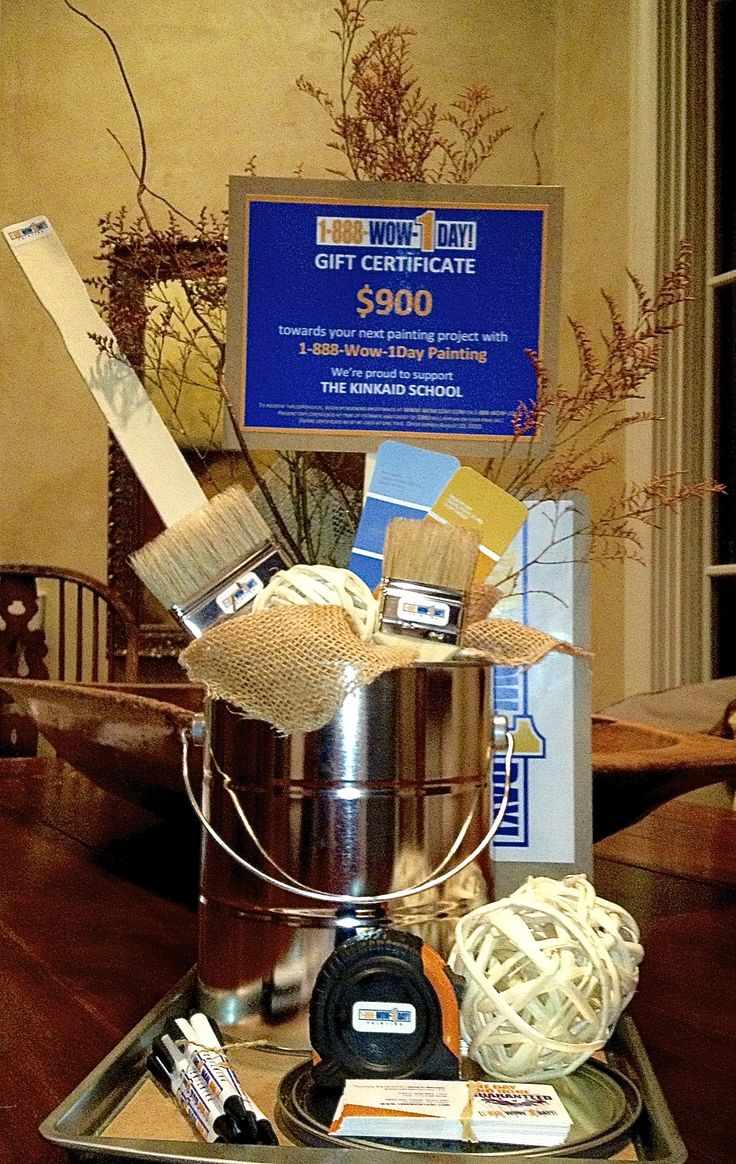 What a great donation basket - Hope I can find a local painter willing to make a similar donation!
