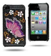 Iphone 4 Butterfly case Stylish High Quality Luxury Fashionable Feminine Design Durable and Handwearing Materials Custom Design To Fit Perfectly Complete access to all buttons and back camera without having to remove the case