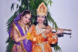 K rishan and Radha .