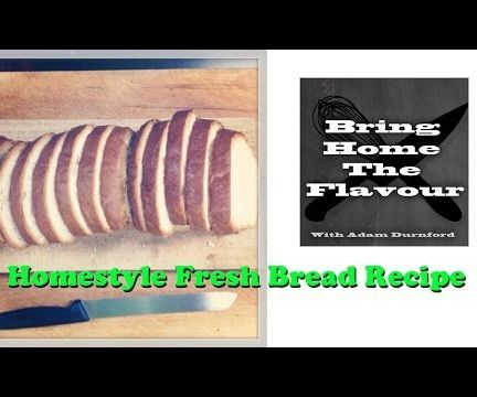 Everyone loves fresh homemade bread and now you can make it with ease using my latest video recipe. The smell alone will make your neighbours jealous. Here it is I ran into a few issues but I got the video finished. I hope you enjoy this recipe and if you do go ahead and give it a thumbs up.