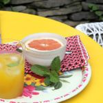 DIY Freshened-Up Yellow Outdoor Table