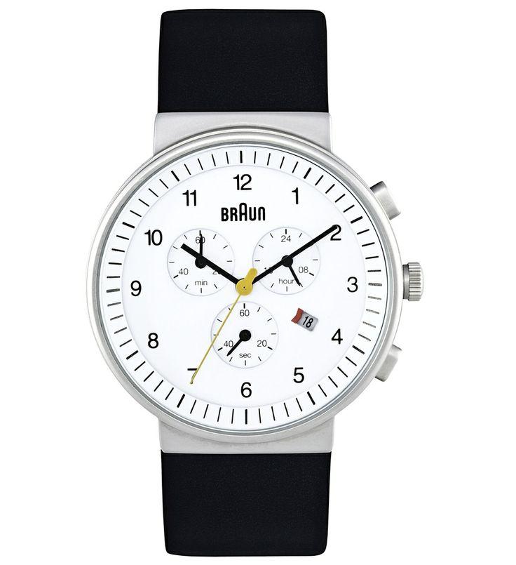 street-files.com - Mens Chronometer Watch, White - Accessoires