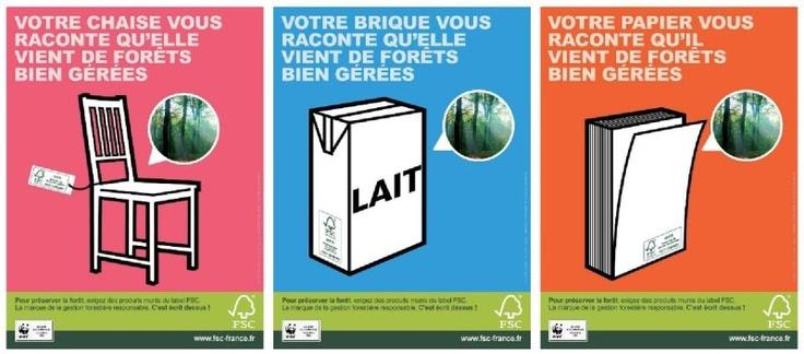 Campagne affiches sectorielles FSC France