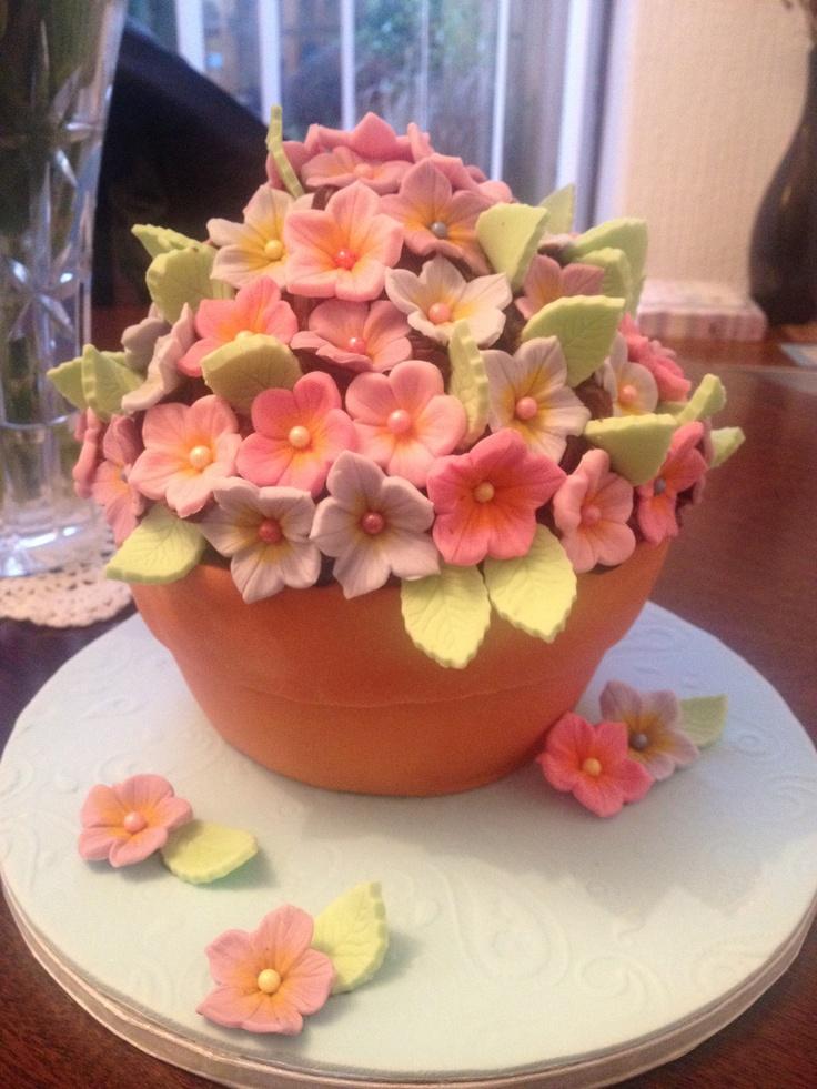 Birthday cake I made for my grandma