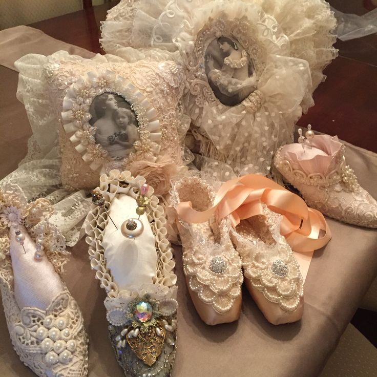Altered shoes and pillows.