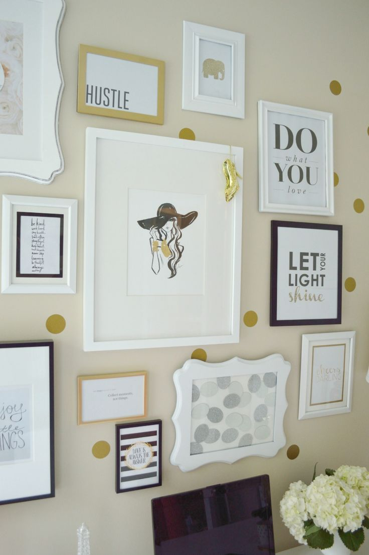 home office office wall. lydia lynnu0027s polkadotted and cheerful home office tour wall s