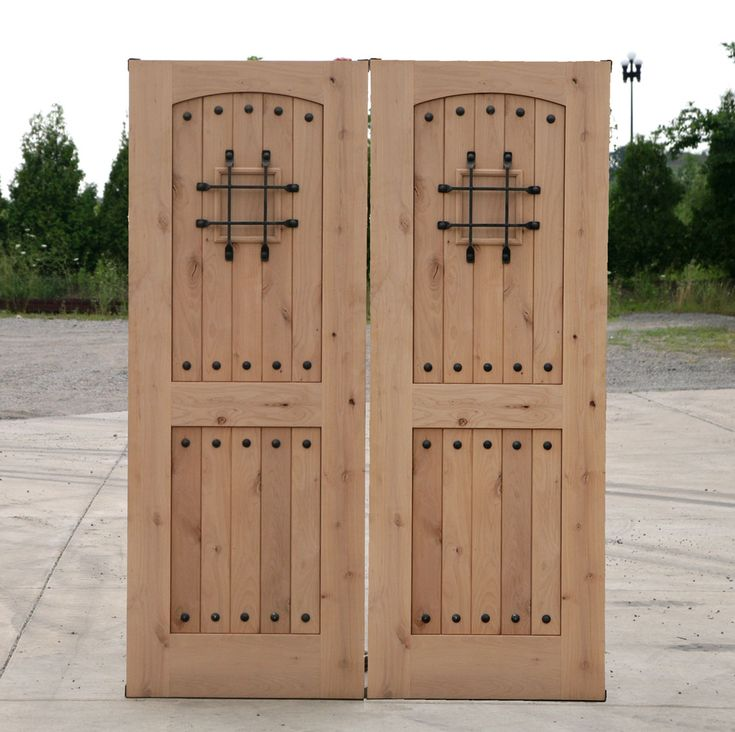 Back Doors For Homes Rustic Double Doors Closeout Sale Exterior Alder Wood Door Home