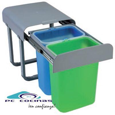 ALADIN Cubo ecológico de extracción total, en 2 versiones  Con un cubo o con dos cubos  Con un cubo 16 litros de capacidad  Con dos cubos 2 de 8 litros de capacidad