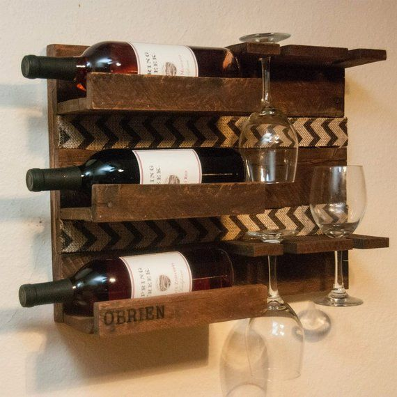 Unique Custom Gift Gift For Parents Gift For Couple Wine Rack Wall