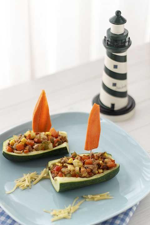 Recetas para niños: verduras en calabacin