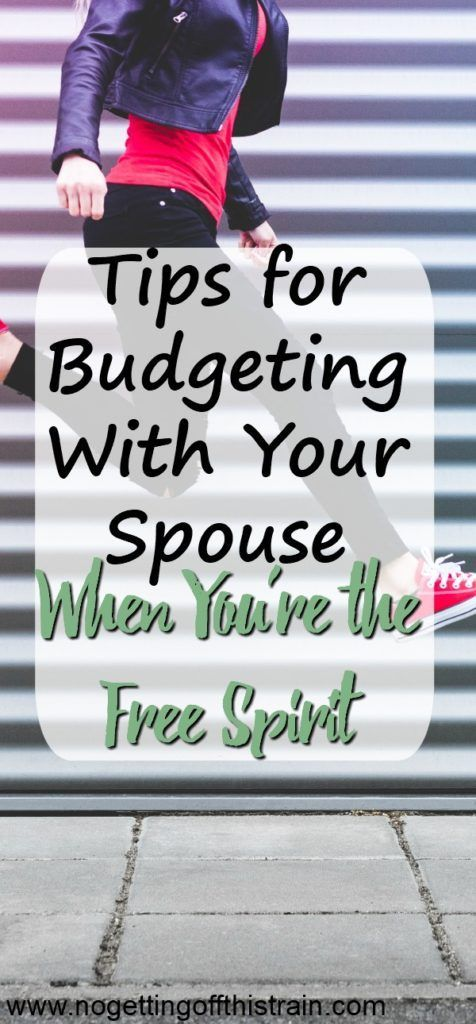 Does all the budgeting stuff go over your head? Here are tips for budgeting with your spouse when you're the Free Spirit!