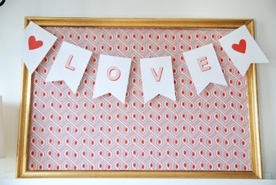 simple and cute. Free Valentines Printable by Heirloom Paperie. Love banner, bunting.