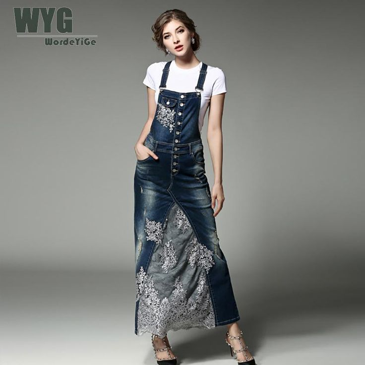 Women Denim Dress 2017 Summer Autumn Casual Fashion Floral Lace Embroidery Patchwork Suspenders And White Cotton T Shirts-in Dresses from Women's Clothing & Accessories on Aliexpress.com   Alibaba Group