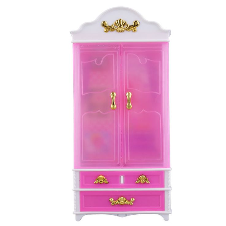 Pink Closet Wardrobe for Princess Doll House Bedroom Furniture Miniature 5Y #UnbrandedGeneric