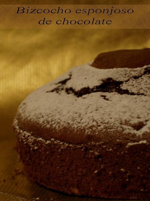 Bizcocho esponjoso de chocolate  receta