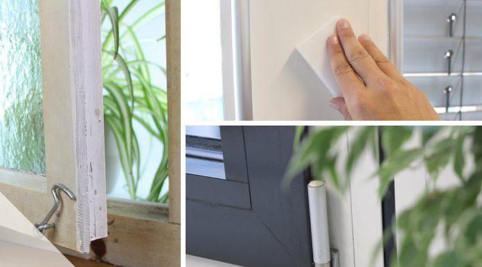 Alte Fensterrahmen: Reinigen, Streichen und Abdichten