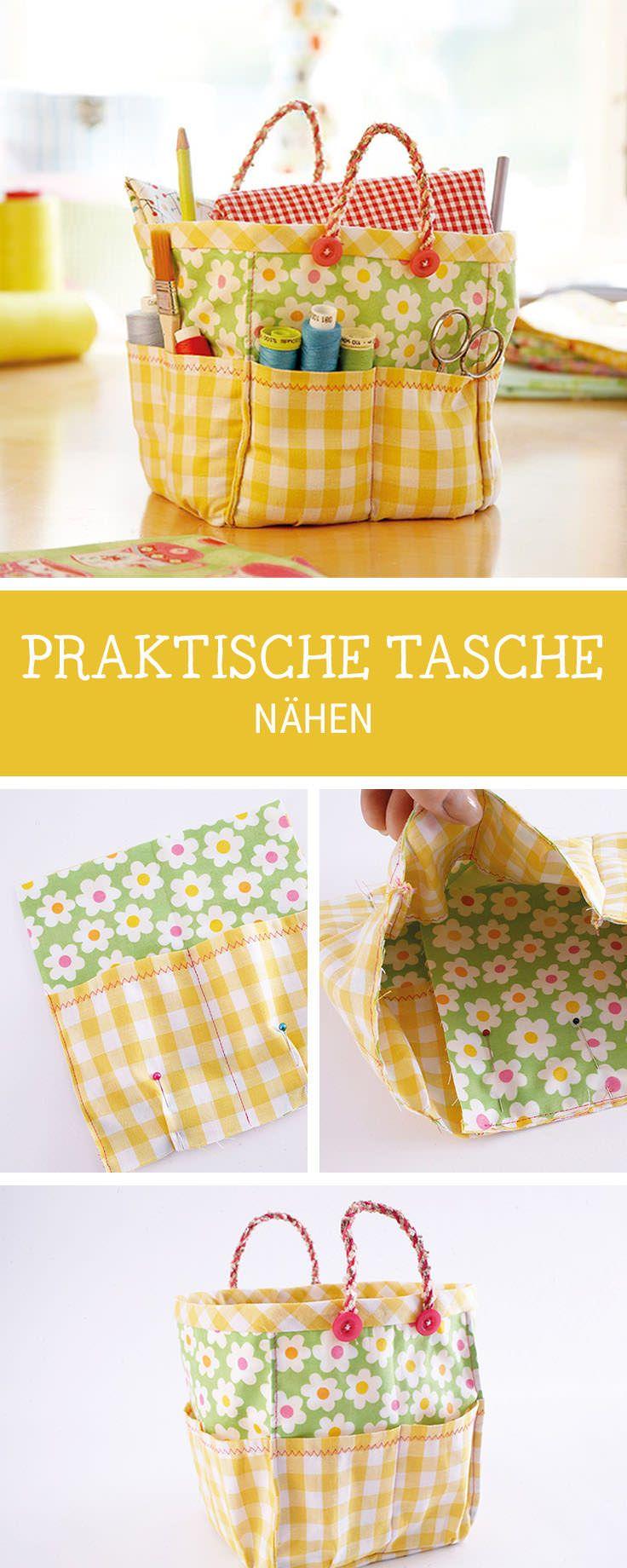 Nähanleitung für eine große Strandtasche, Taschen nähen mit Schnittmuster / sewing pattern for a big beach shopper bag via DaWanda.com