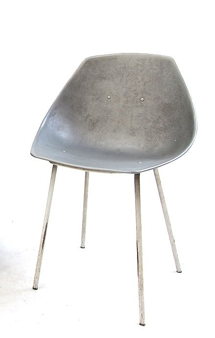 Pierre Guariche; Aluminum and Enameled Metal Chair, 1950s.