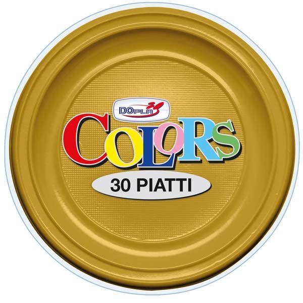 Borden Colors : Plastic borden goud 22 cm - Bozikova feest-en verpakkingswinkel