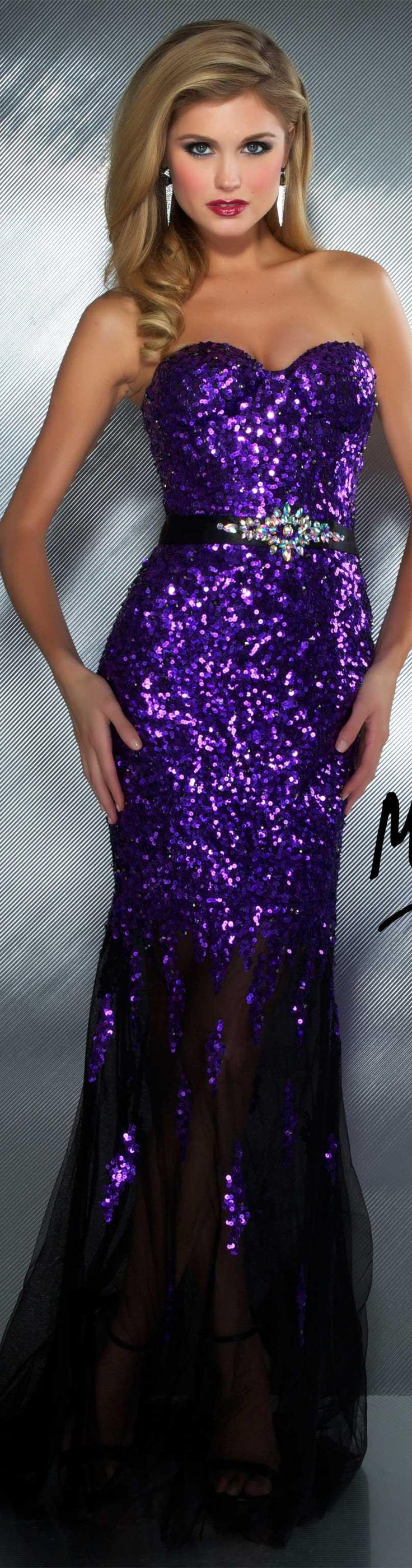 Mac Duggal couture dress purple #strapless #long #formal #dress #glitter MAC DUGGAL PROM STYLE 85145M