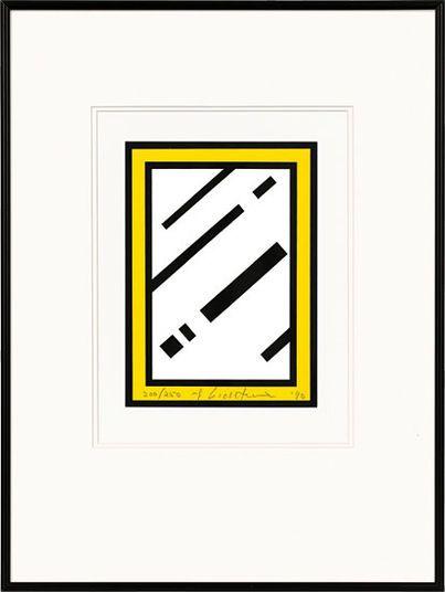 """Roy Lichtenstein: """"Mirror"""" (1990) http://www.kunsthaus-artes.de/de/765186.R1/Bild-Mirror-1990/765186.R1.html#cgid=t_geometrie&start=19"""