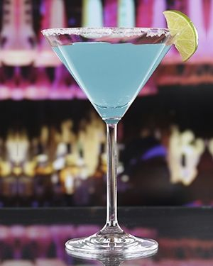 The Jack Frost Martini is the perfect cocktail for a winter weekend party. Blue Curaçao, Rum, Cream of Coconut, Pineapple Juice, Sugar and Lime.