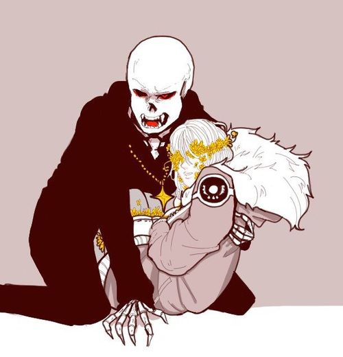 *Sans is a little over protective, since my soul is so delicate... -Frisk