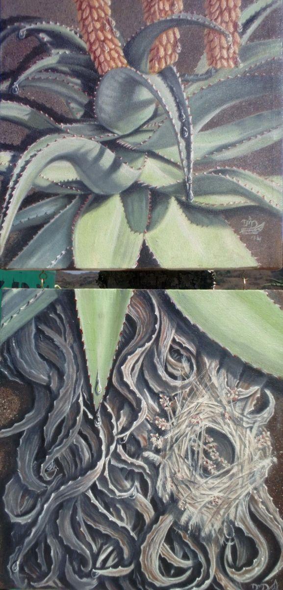 Hidden Secrets ~ Block Mounted Oil Painting by Dawn Du Preez #DawnDuPreez