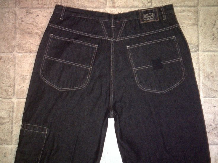 Mens M+FG Baggy-Fit LEG POCKET Jeans Size 38 Med 38x32 MARITHE FRANCOIS GIRBAUD | eBay