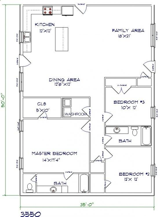 3  BEAST Metal Building: Barndominium Floor Plans and Design Ideas for YOU! #Barndominium #BarnHomes Tags: Barndominium plans, texas, cost, for sale, house plans, prices, 40x60, 40x50, with shop, with loft, pictures, images, 2 story, with garage, small, simple