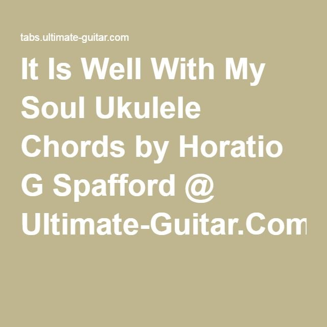 Guitar chords it is well with my soul