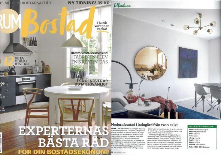 AYTMs Circum mirror featured in RUM Bostad! Edition 21 2017.