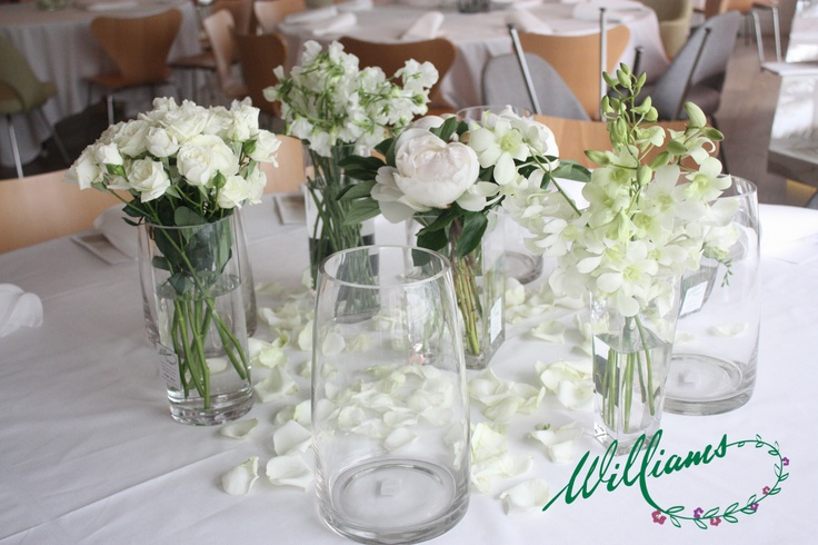 A collection of white inspired vases.