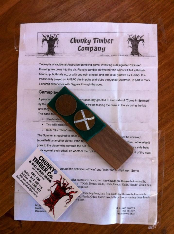 Australian Two-up Game by ChunkyTimberCo on Etsy