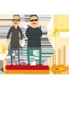 Ilustración de Ximo y Ángel realizada para la página web de la agencia por Oscar Llorens. El trabajo completo se puede ver en www.estudioec.com