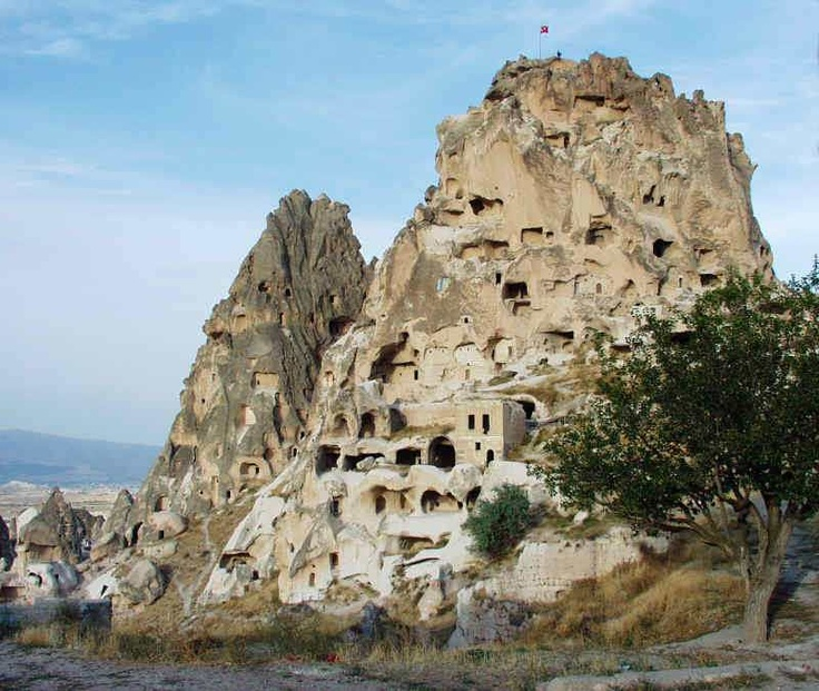 Uchisar Castle in Capadocia, Turkey.  Photo-fun......  Pinterest
