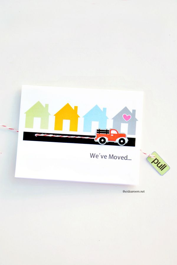 We've Moved Card Printables - The Idea Room