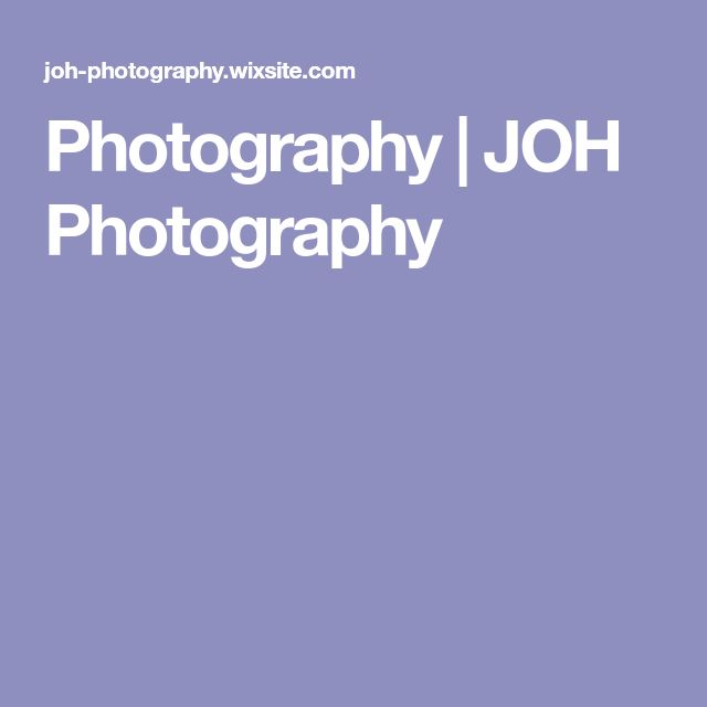 Photography | JOH Photography
