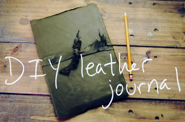 DIY leather bound journal #writing