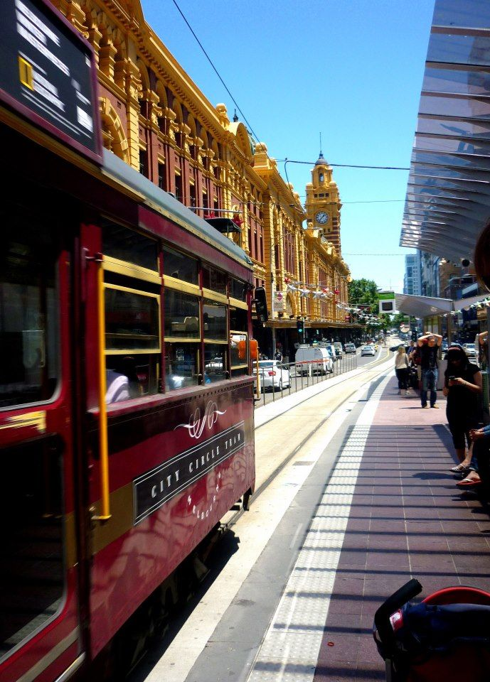 City of Melbourne Australia - famous trams - by Jen Nixon
