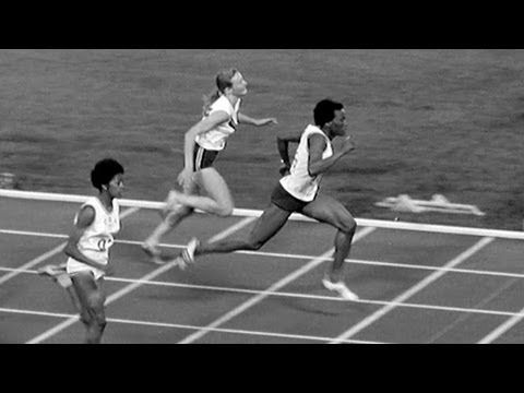 The first repeat winner of the women's 100m - Wyomia Tyus - Mexico 1968 Olympic Games - YouTube