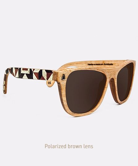 Salitre X Pure, Wooden sunglasses handmade in Andalusia, by Laveta x Tarxia