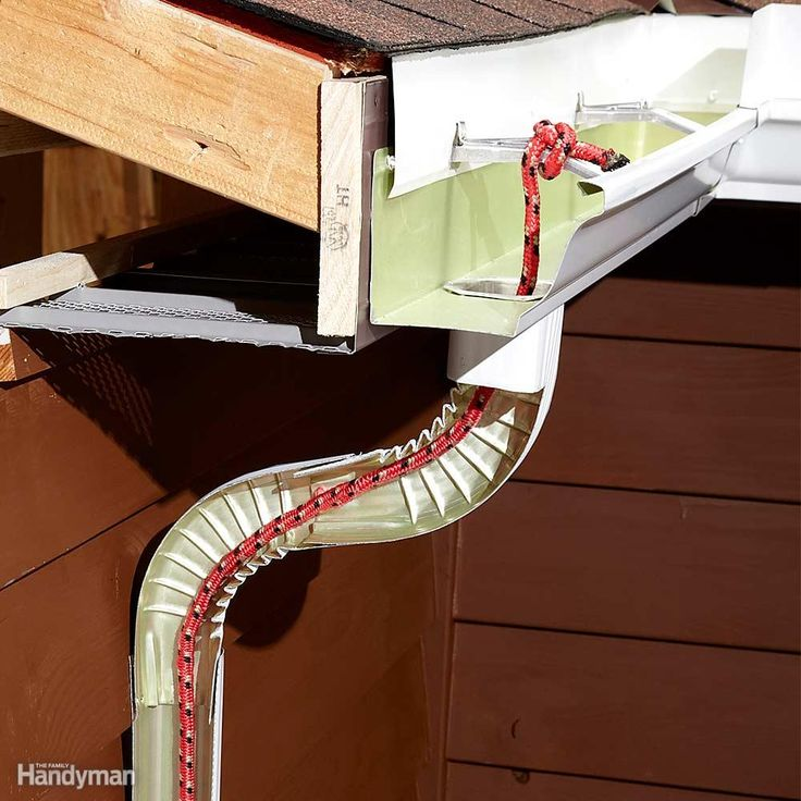Is that dripping noise in your downspout forcing you to keep your bedroom window closed at night? Tie a synthetic rope onto one of the gutter hangers and run it down into the downspout. Drops of water will cling to the rope and flow down instead of plummeting the whole length of the downspout and causing that irritating drip. Adding a rope does restrict the water flow, so this may not be the best option if your gutter is prone to overflowing or gets clogged easily.