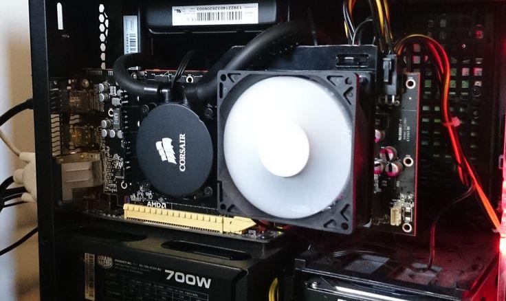 AMD R9 290x liquid cooled with a NZXT Kraken G10 and a Corsair H55 Liquid Cooler.