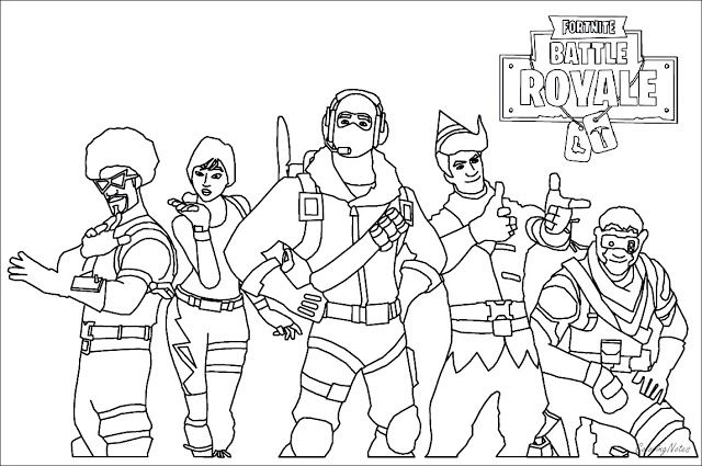 Fortnite Coloring Pages Battle Royale With Images Coloring