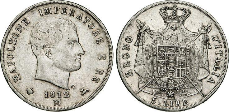 "NumisBids: Numismatica Varesi s.a.s. Auction 65, Lot 731 : NAPOLEONE I, Imperatore (1804-1814) 5 Lire 1812 Milano ""II° tipo"",..."